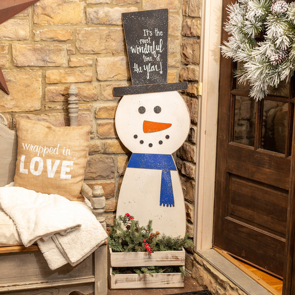 Snowman Porch Sign