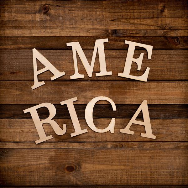 "Laser Cut ""America"" Word Pack"