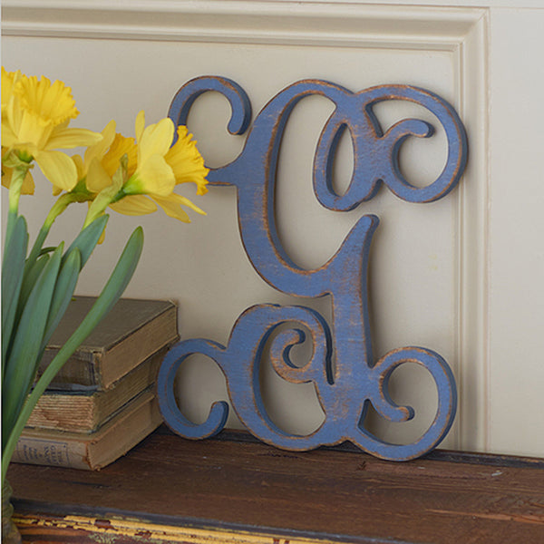 "Vine Wood Letters - 13"" Tall"
