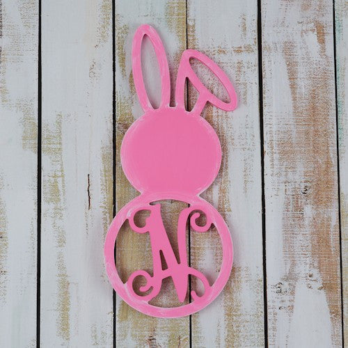 "22.5"" Bent Ear Bunny Monogram"