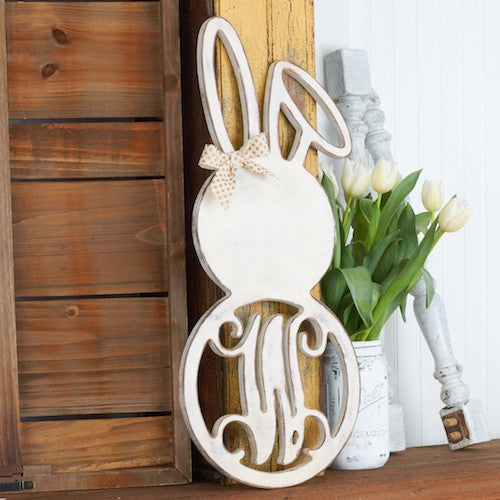 Bent Ear Bunny Monogram