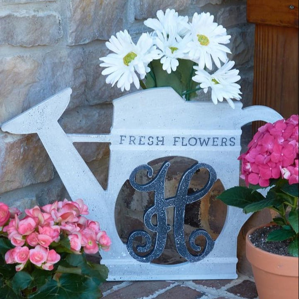 "21.25"" Watering Can Monogram"