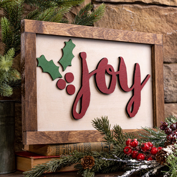 "Laser Cut ""Joy"" with Holly"