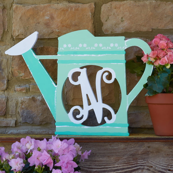 Watering Can Vine Monogram
