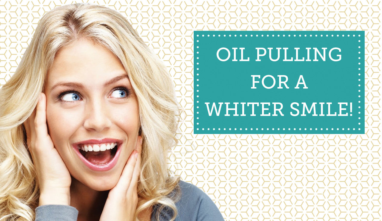 Organic Coconut Oil Pulling for Whiter Teeth
