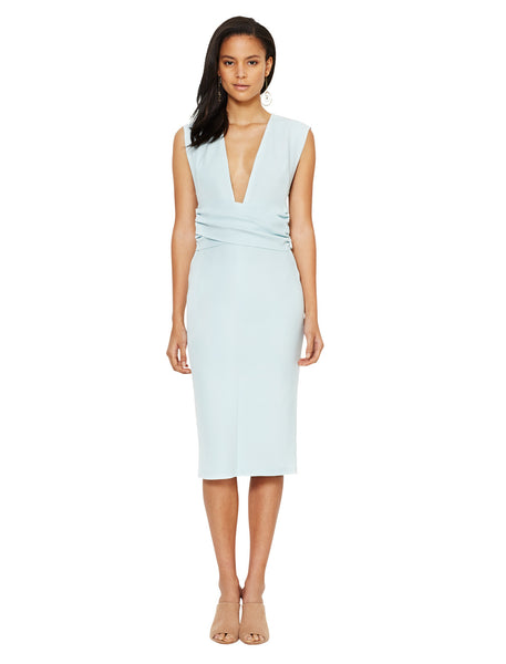 SALT LAKE WRAP DRESS ICE