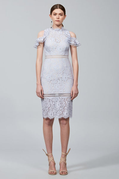 OBLIVION LACE MIDI DRESS / PALE BLUE DRESS