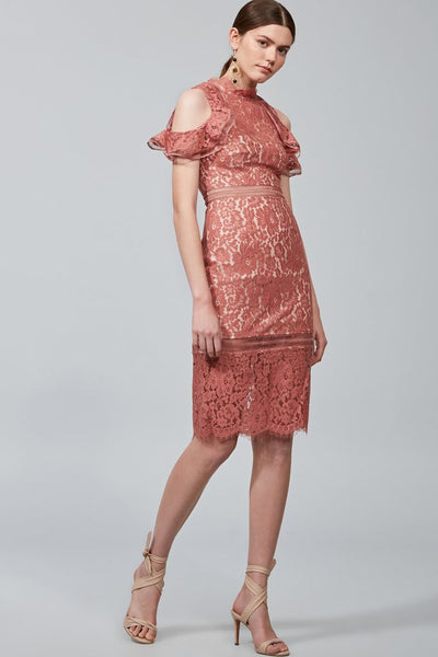 OBLIVION LACE MIDI DRESS /SPICE