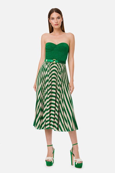 Sleeveless green dress with belt | NEW SS20