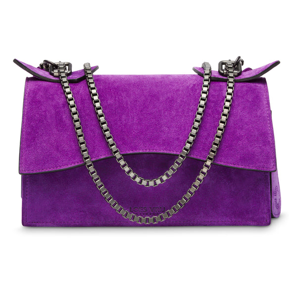 Diavolino Purple Suede Gun Metal chain - NEW ARRIVALS