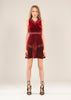 ANTILA VELVET FIT & FLARE DRESS