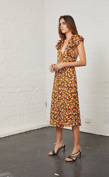 NEW ROMANTICS MIDI DRESS