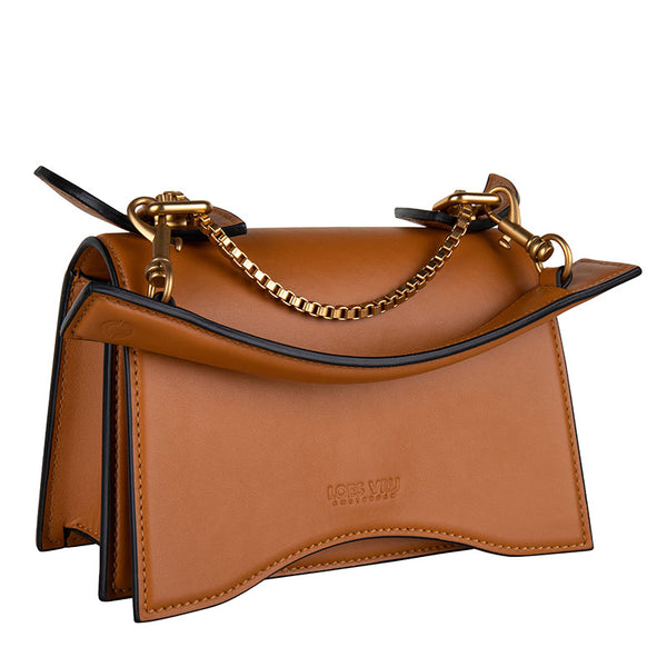 Diavolino Piccolino Tan Calf leather Matt gold accessories | NEW IN