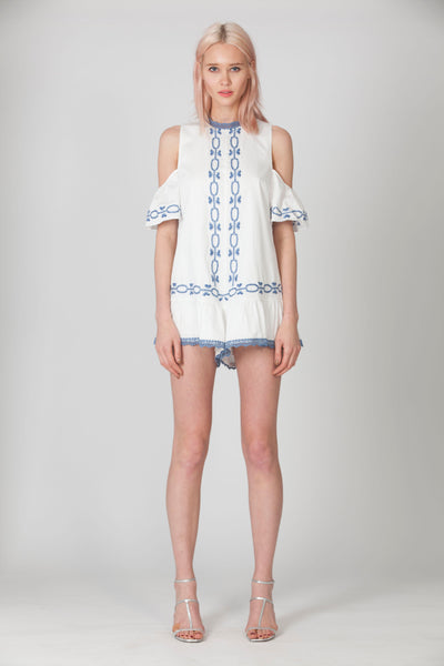 SPELLGIRL EMBROIDERED ROMPER - NEW ARRIVALS