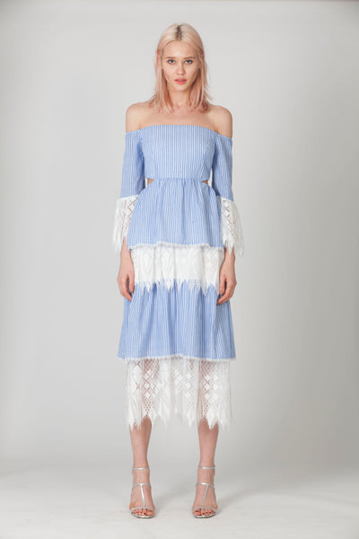 ADDISION TIERED MIDI DRESS