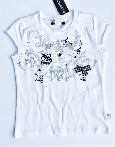 Jean Bourget of France Short Sleeve white/black Top