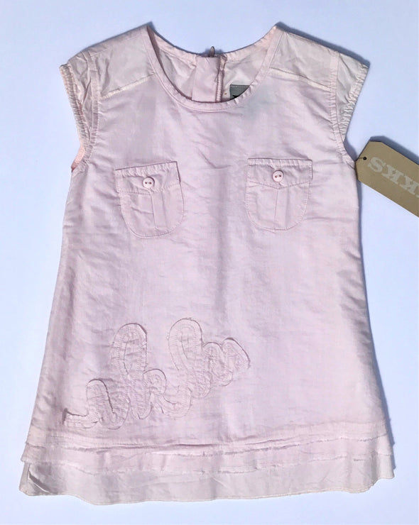 IKKS Of France Infant Girls Pale Pink Cap Sleeve Cotton Dress