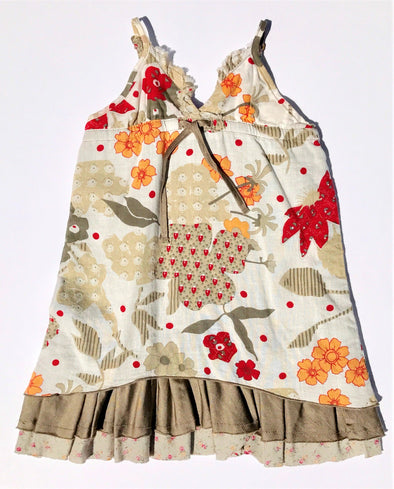 IKKS Of France Infant Girls Floral Layered Cotton/Silk Sundress
