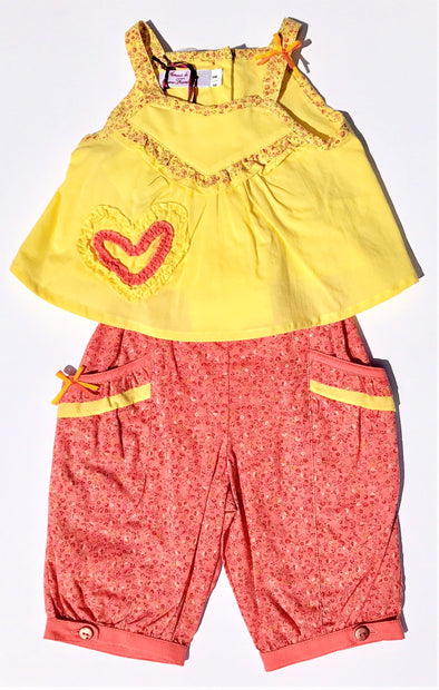 Pomme Framboise of France Girls 2Pc pant set