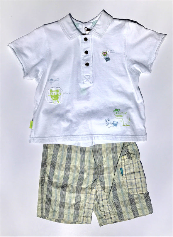 Catimini Of France Infant Boys 2Pc Short Sleeve Cotton Short Set