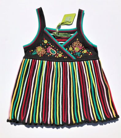 Oilily  Multi Colored Knit Tank Top With Embroidery