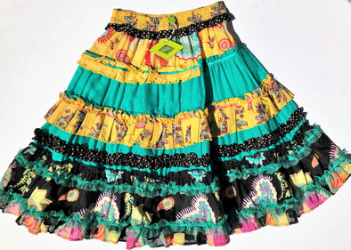 Oilily  Multi Layered Floral Long Skirt