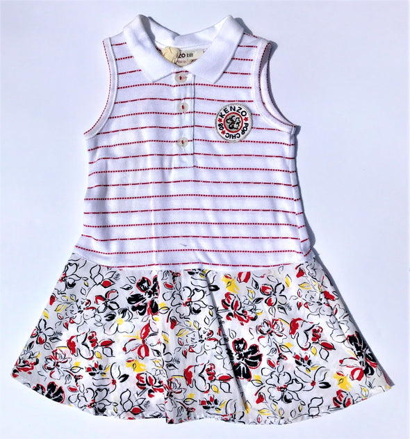 KENZO of France  Girls Very Soft 100% Cotton  Sleeveless Dress