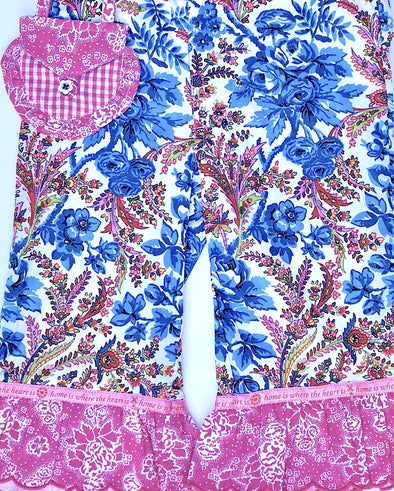 Oilily Girls Floral Print With Ruffles Pant