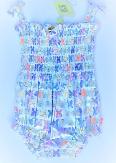 Oilily Sleeveless 1Pc  Romper With Butterfly Print