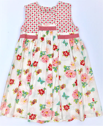 ROOM SEVEN Girls 2Pc Spring/Summer Floral Dress