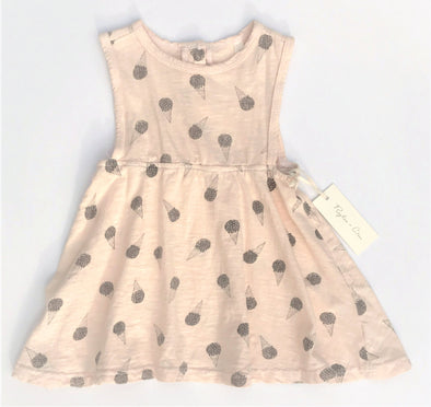 Rylee + Cru  Sleeveless Soft Cotton Dress With Ice Cream Cone Print