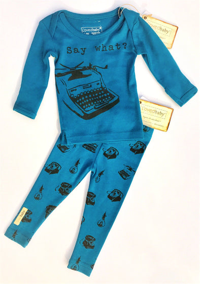 L'ovedbaby Make a Statement  Top Say What? Bottom Retrogram  2Pc Set