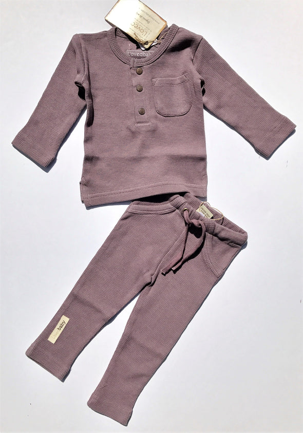 L'ovedbaby 2Pc Organic Thermal Mauve 100% Organic Cotton