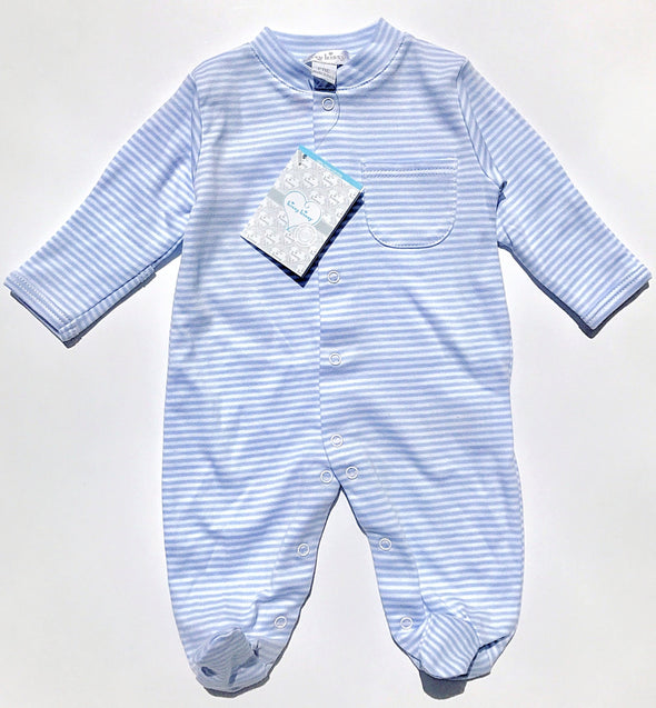 Kissy Kissy 1Pc Light Blue Stripe Footie