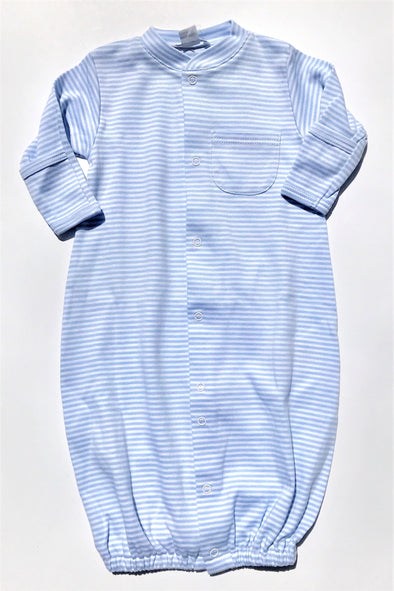 Kissy Kissy 1Pc Light Blue Stripe Convertible Gown
