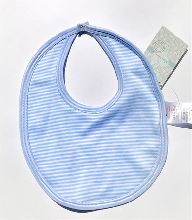 Kissy Kissy 1Pc Light Blue Stripes Bib