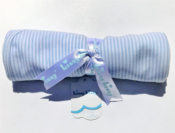 Kissy Kissy 1Pc Light Blue Stripes Blanket
