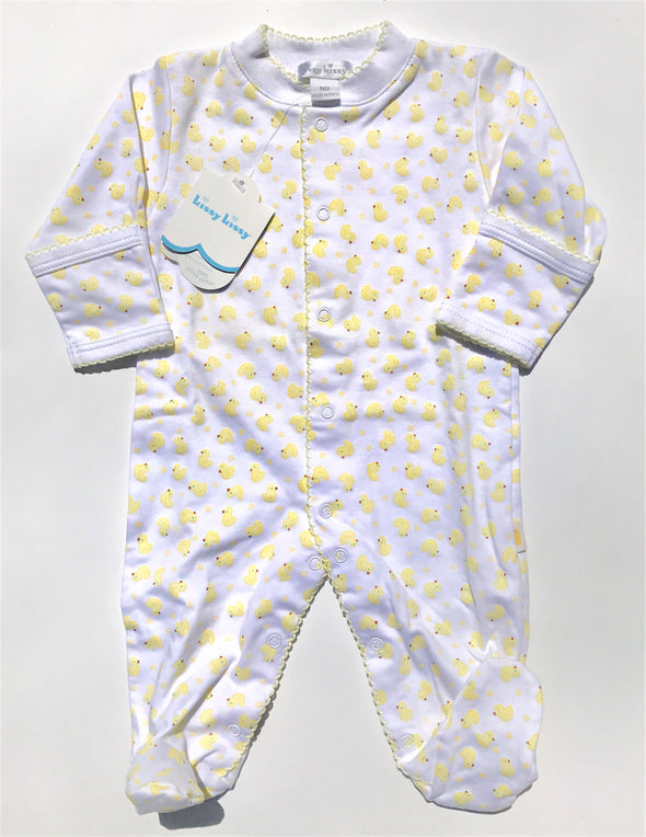 Kissy Kissy 1Pc Homeward Footie With Printed Duckies