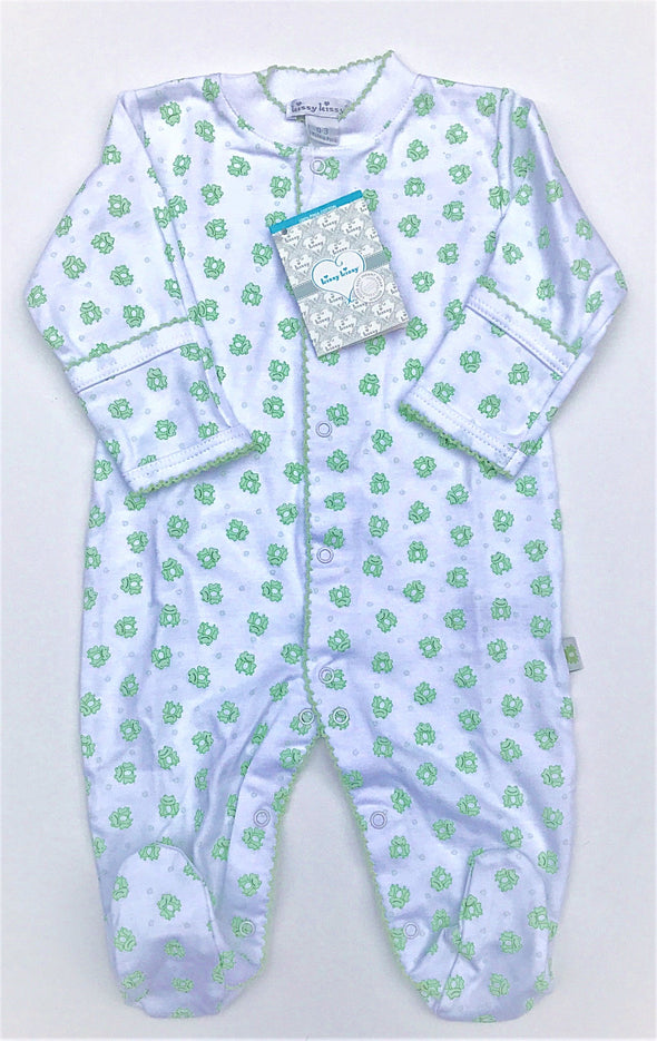 Kissy Kissy 1Pc Homeward Celery Frogs Print Footie