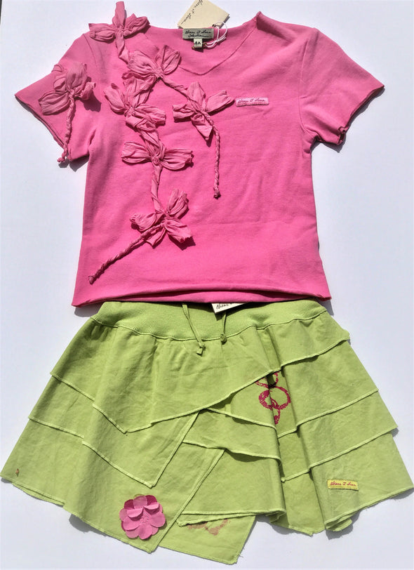 Eliane et Lena Girls 2Pc spring summer Skirt Set