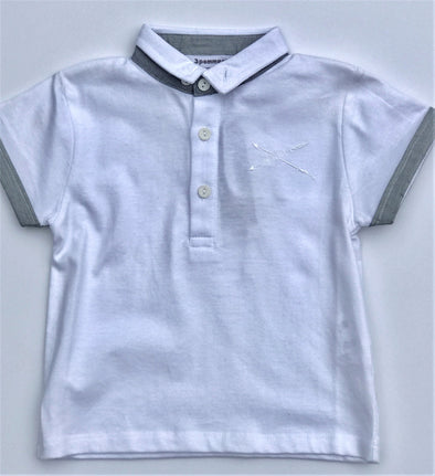 3pommes Infant Boys Short Sleeve polo Collar Top
