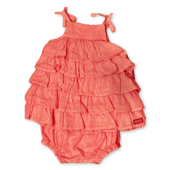 3Pommes 2PC ruffled Sundress With Matching Bloomers