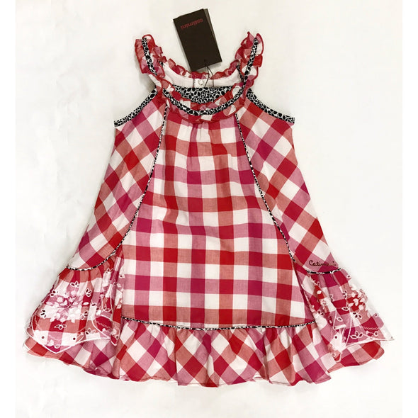 Catimini Girls  Red Check Dress