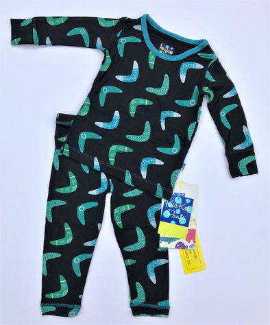 Kickee Pants 2Pc Midnight Boomerang L/S Pajama Set