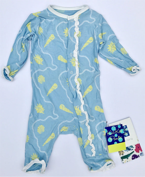 Kickee Pants Muffin Ruffle Girls Coverall With Snaps