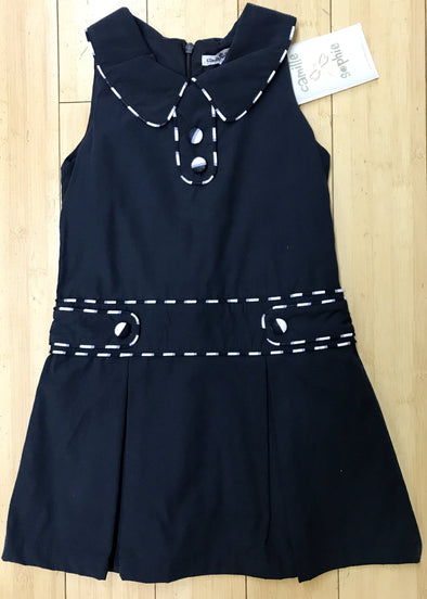 Camille @ Sophie Girls Navy Classic Spring/Summer Dress