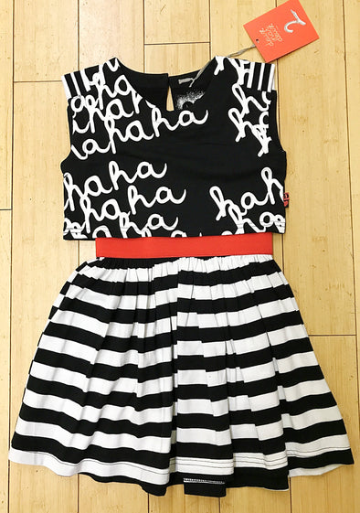Deux par Deux Girls Spring/Summer Black/White Dress