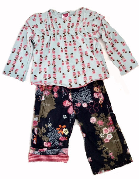 Cakewalk Fall/Winter 2Pc Multi Print Pant Set