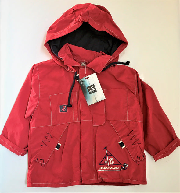 RDP Of ITALY NAUTICAL SPRING RED JACKET WITH HOOD