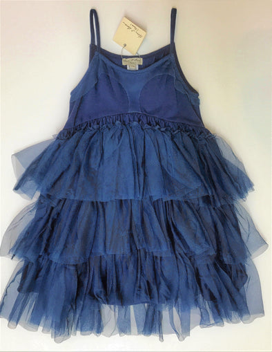Eliane et Lena Navy Tiered Tutu Dress